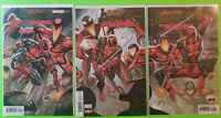 Absolute Carnage Vs Deadpool #1 2 3 Connecting Variant NM Set Marvel 2019