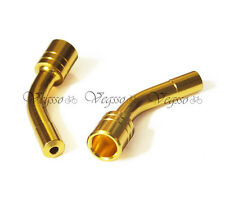 NEW ALLIGATOR LY-VBP09 SHIFTER GUIDE PIPE WITH 58 DEGREE ANGLE 2pcs, GOLD