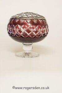 Royal Doulton  Ruby Red Glass Rose Bowl