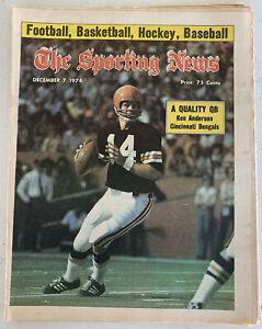 The Sporting News December 7, 1974 Ken Anderson Cincinnati Bengals (B36)