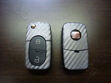 Carbon Anthrazit Dekor Schlüssel Folie  Seat leon Golf Passat VW Bora Polo Skoda
