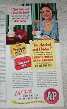 1955 old ad -A&P grocery store Tea -Mrs Robert Jones of Charlotte NC vintage AD