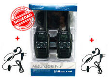 NUOVE RICETRASMITTENTI MIDLAND G7 PRO VERSIONE 2015 + 2 AURICOLARE WALKIE 25 KMS