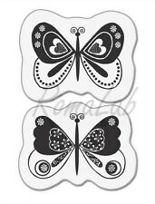 TIMBRI TRASPARENTI in silicone farfalle uccelIi in STILE FLOREALE clear stamps