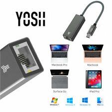 YOSH Adaptateur USB3.1 type C LAN Ethernet vers RJ45 Gigabit Réseau Thunderbolt3