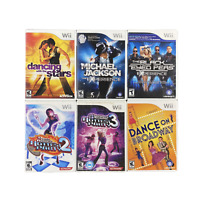 Dancing Game Lot Nintendo Wii Games Bundle 6 Games Michael Jackson DDR