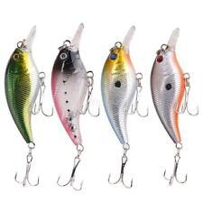 Lot 4Pcs Fishing Lures Crankbaits Treble Hooks Minnow Baits Tackle Tool Set