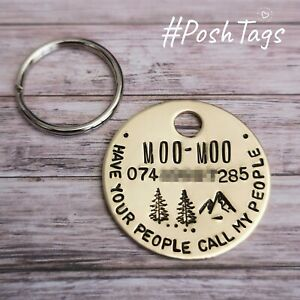 Have your people call my people single disc - handmade stamped pet dog PoshTags