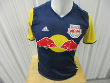 VINTAGE ADIDAS NEW YORK RED BULLS LARGE YOUTH/WOMENS NAVY SEWN 2017 AWAY JERSEY