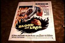 BLOOD AND LACE ORIG MOVIE POSTER 1971 HORROR EXPLOITATION