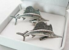 Sailfish Cufflinks in Fine English Pewter Gift Boxed