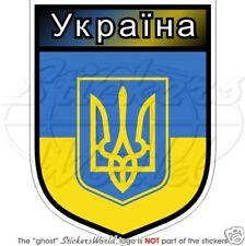 """UKRAINE Ukrayina Tryzub Ukrainian Shield 100mm (4"""") Vinyl Bumper Sticker, Decal"""
