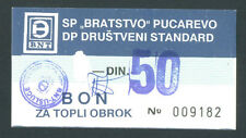 BOSNIA  50 Dinara ND198th  aUNC  SP BRATSTVO - PUCAREVO (N.Travnik) local note