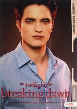 Twilight Breaking Dawn Promo Card Edward Cullen / Robert Pattinson ~ Rare ~ New