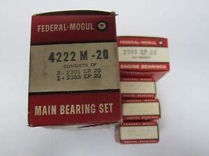 60-75 Ford Mercury 144 170 200 Main Bearing Set 4222M-020
