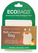 EcoBags Bulk Produce Bag Organic Cotton Grains Nuts Reusable Drawstring Sack