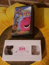 Barney - Lets Go to the Zoo (VHS, 2001) Recommended Ages 1-8 50 Minutes Long