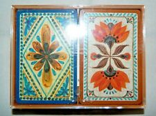 """Vintage Hallmark """"Old World Charm"""" Double Deck Playing Cards"""