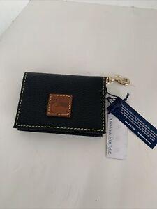 Dooney & Bourke ID Card Holder Key ring Card Bifold Wallet Black