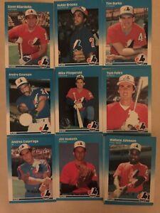 1987 Fleer Montreal Expos Complete Team Set!