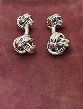 Tiffany & Co. 13mm Double Knot Cufflinks Silver Bracelet