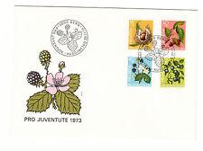 Schweiz  FDC Ersttagsbrief 1973 Früchte des Waldes Mi.Nr.1013-16