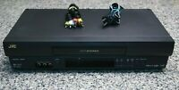 JVC HR-J692U Hi-Fi Stereo 4-Head VCR VHS Player SQPB W/ Remote Tested No Remote