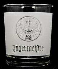 Jägermeister Likör, Tumbler, Windlicht, Teelicht, weiß satiniert