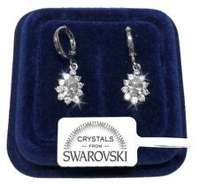 Orecchini da donna oro 18K zirconi cristalli swarovski veri SW4/2 bianchi