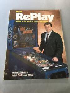RARE VINTAGE ARCADE – REPLAY - GAME MAGAZINE, Vol. XIV, NO.10, JULY,1989.