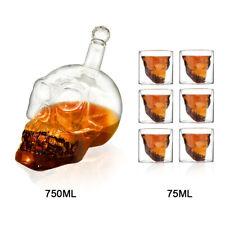 Skull Glass Wine Shot Set Crystal Vodka Drinking Cup Head Whiskey Beer Decanter