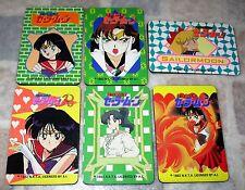 6 Vintage 1992 Sailormoon Sailor Mars Jupitor Folding Magne Addres Phone Book