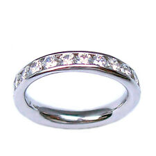 Ring engagement ring ring eternity white gold 18 ct with diamonds - engagement