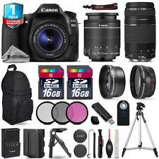 Canon EOS 90D DSLR Camera + 18-55mm IS + 75-300mm + EXT BAT + 32GB +1yr Warranty