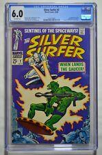 Silver Surfer #2 CGC 6.0 1st app Badoon & Watcher Backstory 10/1968 Marvel