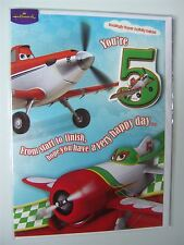 Disney Planes birthday card for age 5 with a badge by Hallmark