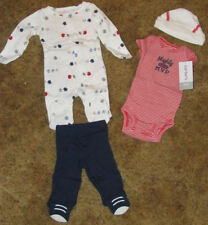 Boys Carter's NWT 4 pc red, white, and blue layette set size preemie