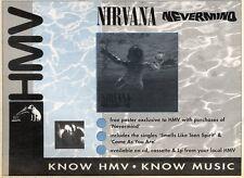 "21/3/92 Pgn26 NIRVANA : NEVERMIND SINGLE ADVERT 7X11"""