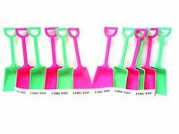 12 Toy Sand Beach Shovels 6 ea Lime & Pink & I Dig You Stickers Mfg USA  No Bpa