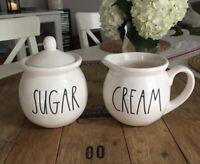 Rae Dunn Sugar & Cream Sugar Bowl and Creamer Set Combo HTF *Brand New