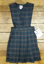 Nwt Royal Park School Girl Uniform Jumper Dress Plaid Girl's Size 5 New