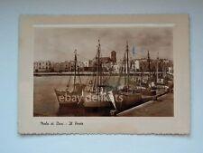 MOLA di BARI porto barche vela pesca vecchia cartolina