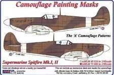 AML Models 1/72 CAMOUFLAGE PAINT MASKS SUPERMARINE SPITFIRE Mk.I Mk.II A Pattern