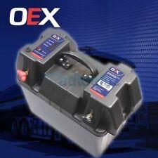 BATTERY BOX HOLDER CASE 12V 12 VOLT AGM DEEP CYCLE DUAL BATTERIES PLASTIC NEW