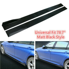 "78.7"" Side Body Skirt Extensions LIPs for Chevrolet Malibu Camalo GlossyBlack"