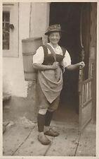 POSTCARD  AUSTRIA  KITZBUHEL  Social  lady at Work