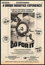 GO FOR IT__Vintage 1976 Trade AD / poster__SHAUN TOMSON_PAUL RAPP_extreme sports
