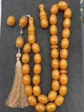 Special Big Size Tightening Amber Misky Misbaha Islamic Prayer beads Rosary 256g