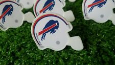 Buffalo Bills Cupcake Toppers Rings Birthday Cake NFL Lot of 12 Mini Helmets