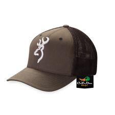 NEW BROWNING COLSTRIP MESH BACK FLEX FIT BALL CAP HAT BUCKMARK LOGO CHARCOAL